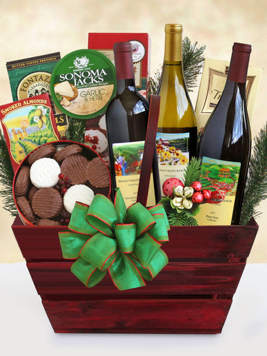 California Classic Christmas Wine Gift Basket