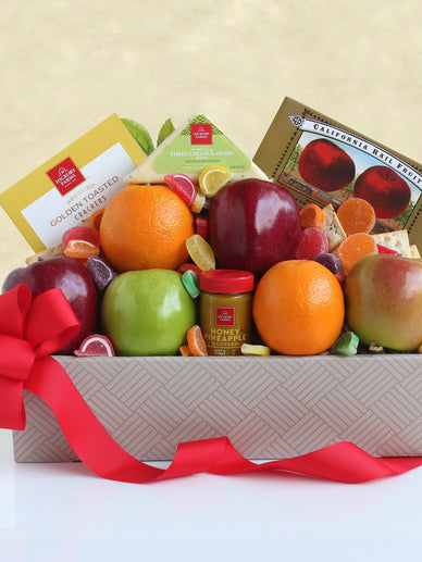 California Fruit and Cheese Gift Basket