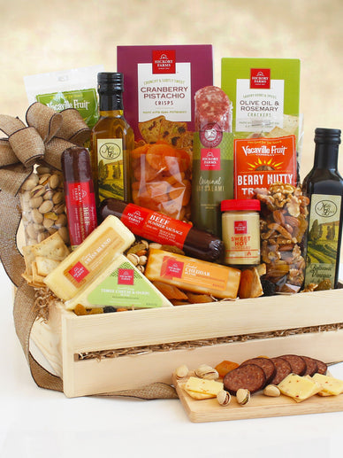 California Dreaming Meat and Cheese Gift Basket