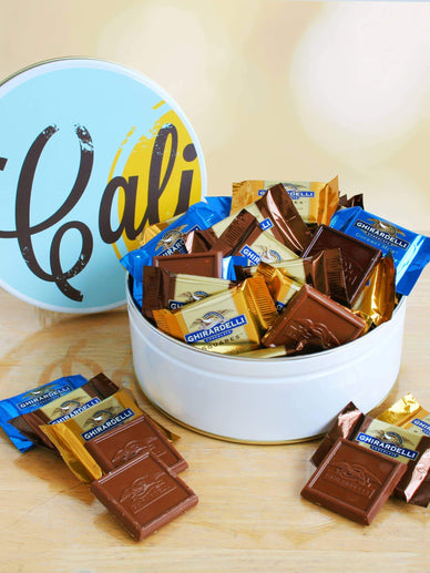Ghirardelli Squares in a Chocolate Gift Tin