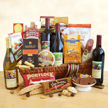 Home for the Holiday Wine Gift Basket