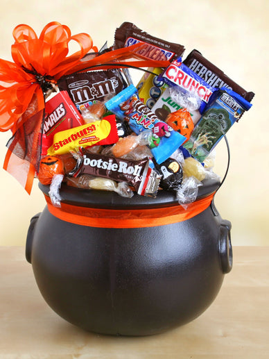 Chocolate Cauldron of Treats Halloween Gift Basket