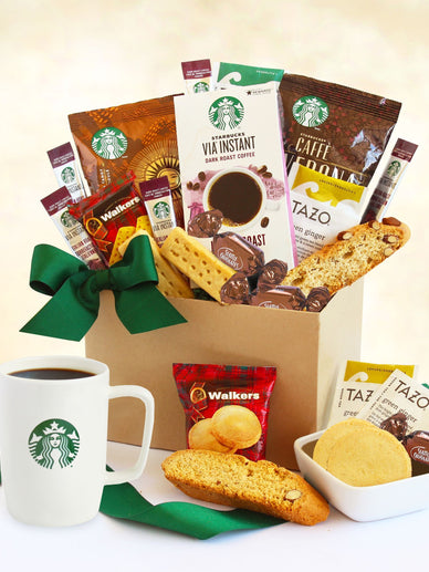 Say Thanks with a Starbucks Coffee Gift Basket