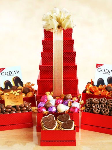 Chocoholics Delight Godiva Christmas Gift Basket
