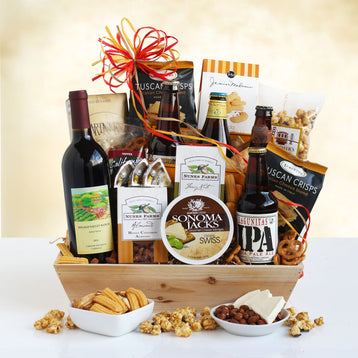 California Wine and Beer Holiday Gift Basket