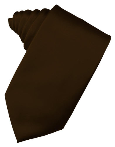 Chocolate Luxury Satin Necktie