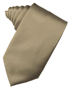 Latte Luxury Satin Necktie