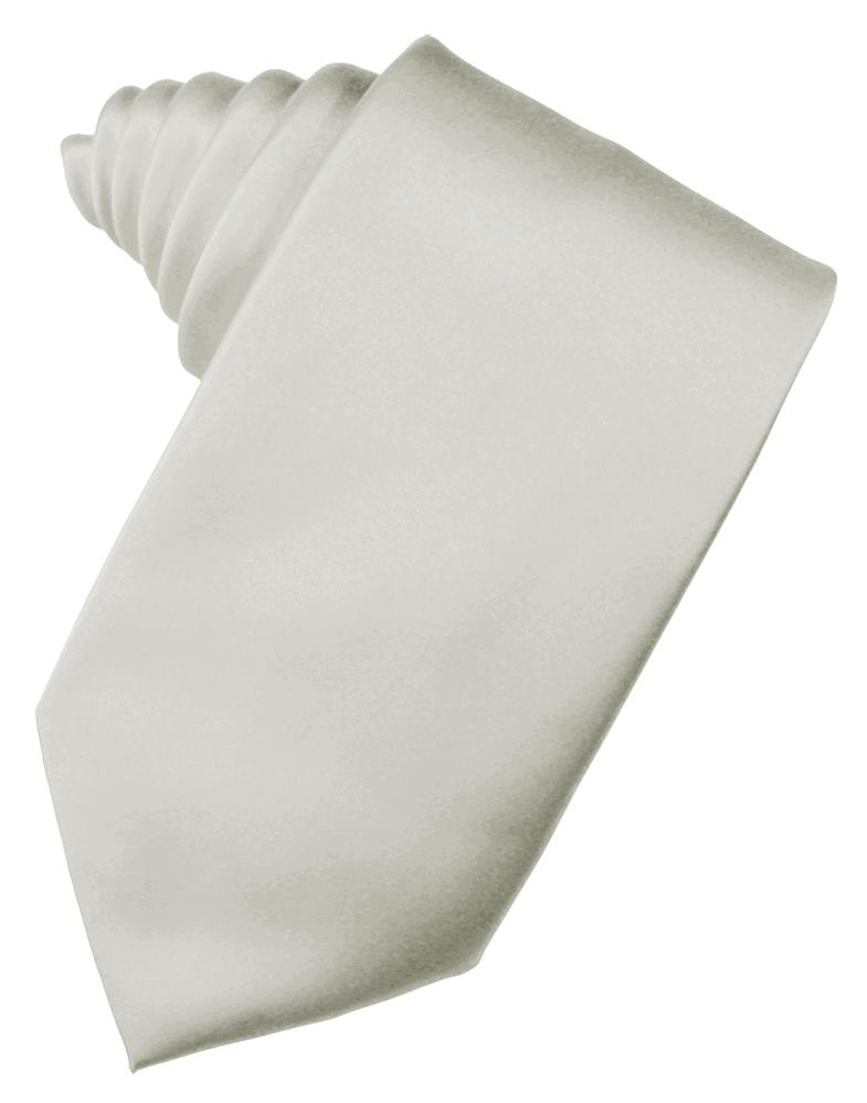 Platinum Luxury Satin Necktie