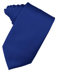 Royal Blue Luxury Satin Necktie