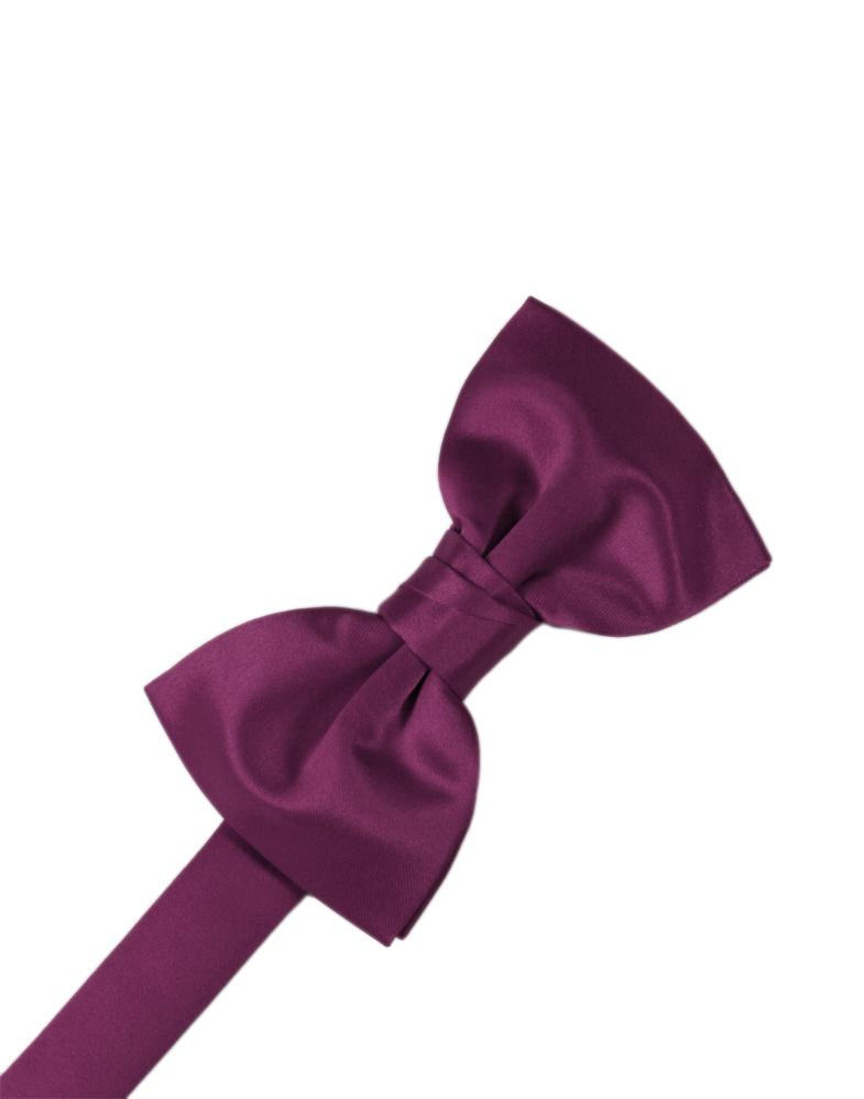 Sangria Luxury Satin Bow Tie