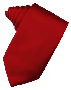 Scarlet Luxury Satin Necktie
