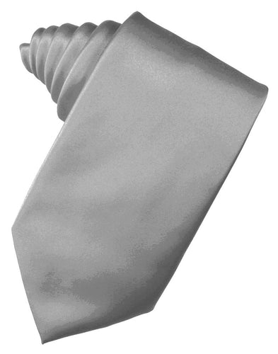 Silver Luxury Satin Necktie