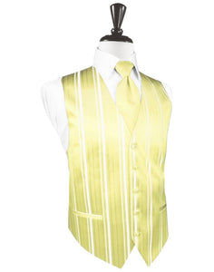 Canary Striped Satin Tuxedo Vest