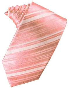 Coral Reef Striped Satin Necktie