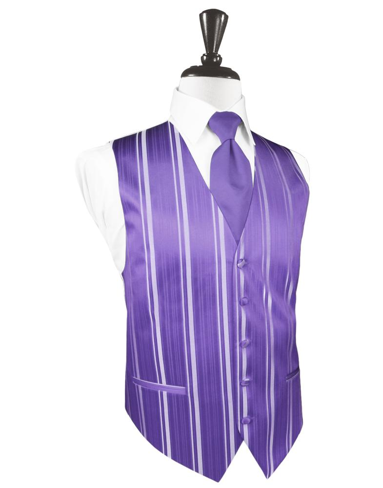 Freesia Striped Satin Tuxedo Vest