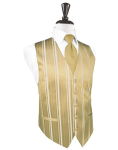 Harvest Maize Striped Satin Tuxedo Vest