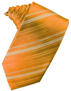 Mandarin Striped Satin Necktie