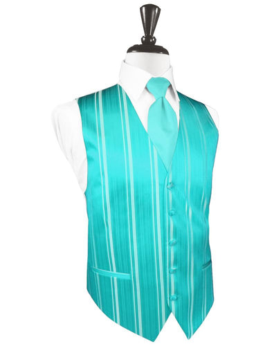 Pool Striped Satin Tuxedo Vest
