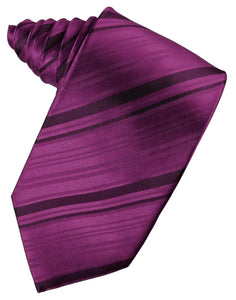 Sangria Striped Satin Necktie