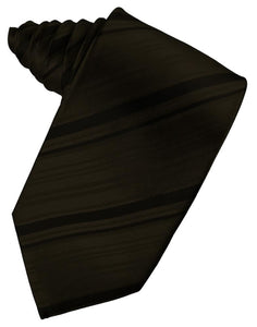 Truffle Striped Satin Necktie
