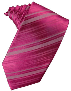 Watermelon Striped Satin Necktie