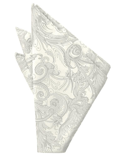 Ivory Tapestry Pocket Square