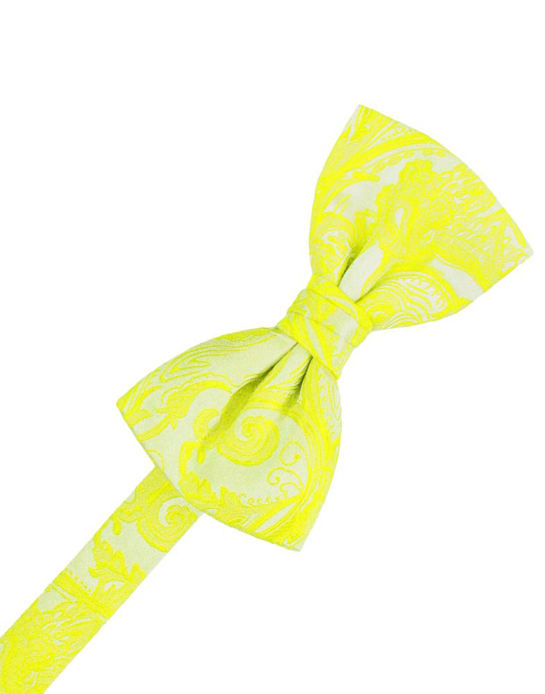 Lemon Tapestry Bow Tie