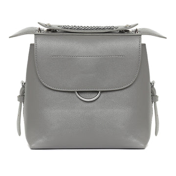 Grey Waterproof Vegan Leather Backpack / Handbag