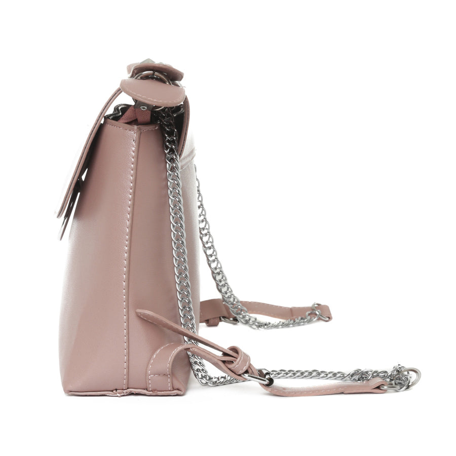 Dusty Pink Waterproof Vegan Leather Backpack / Handbag