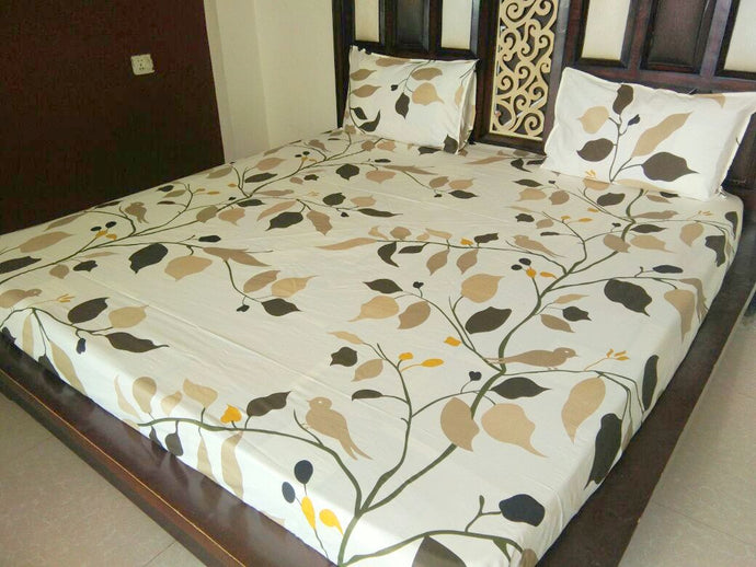 Green Tree Pattern Fitted BedSheet