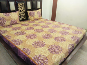The Classic Flowers on Brown Fitted BedSheet