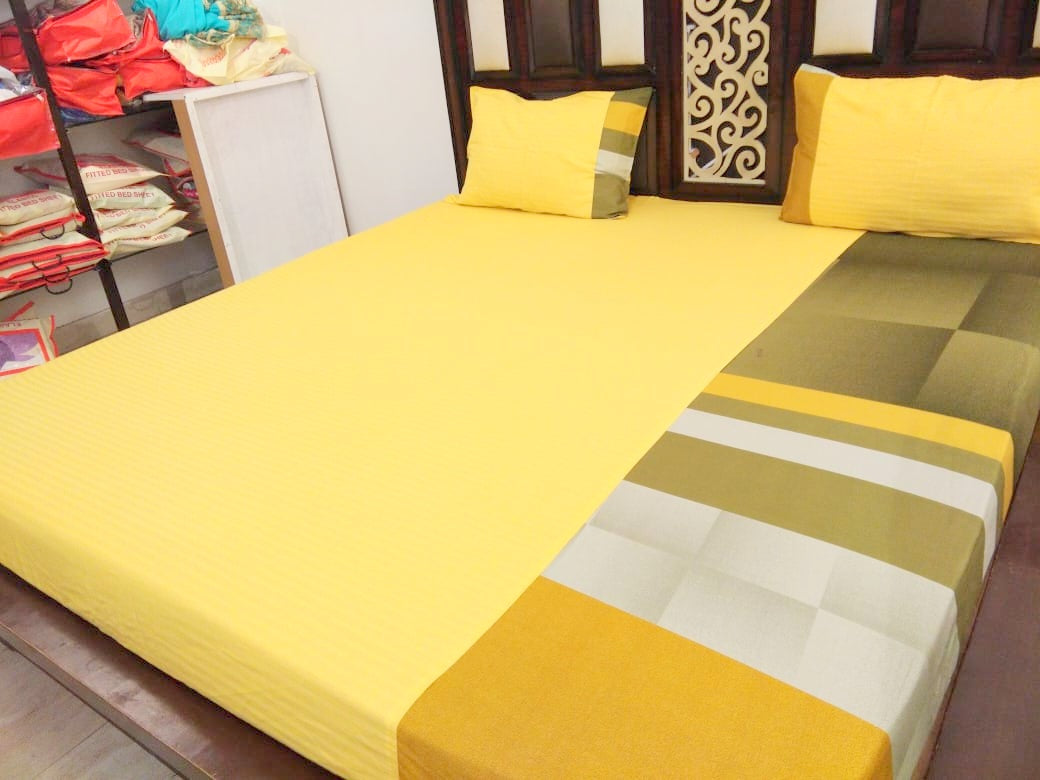 Shades of Yellow Fitted BedSheet