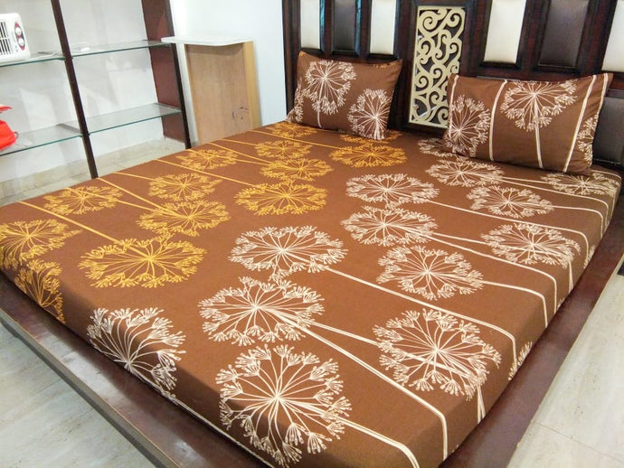 Lighting Glow on Brown Fitted BedSheet