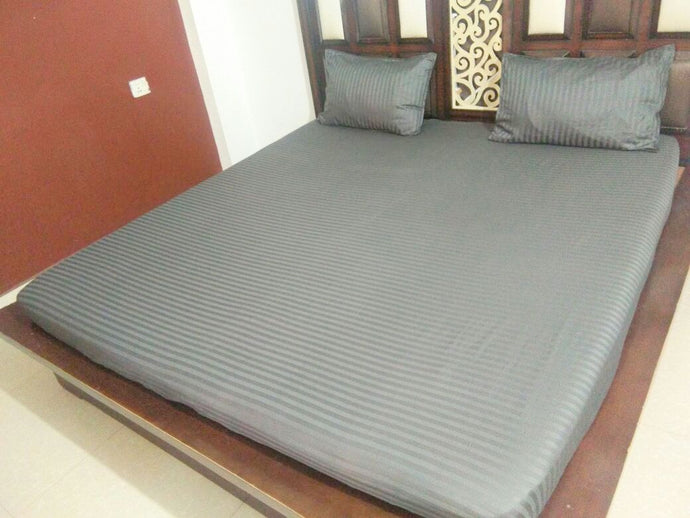 Plain Grey Fitted BedSheet