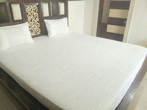 Plain White Fitted BedSheet