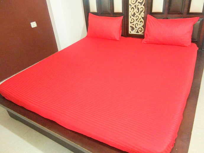 Plain Red Fitted BedSheet