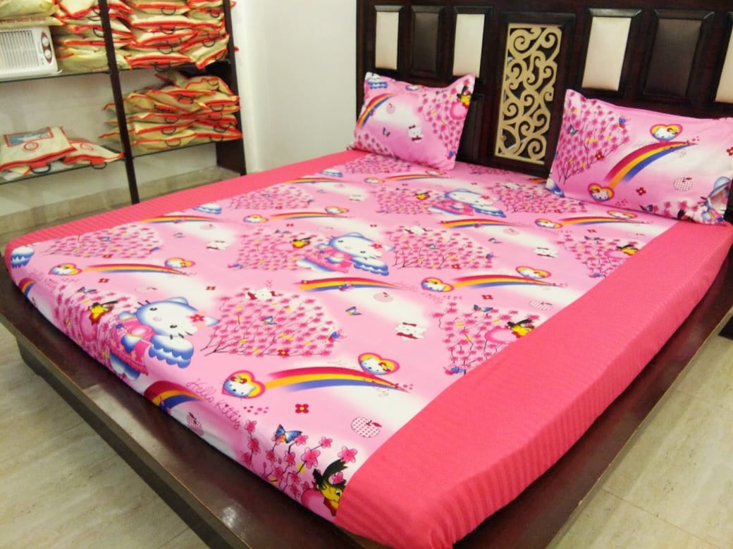 Kids Hello Kitty Fitted BedSheet