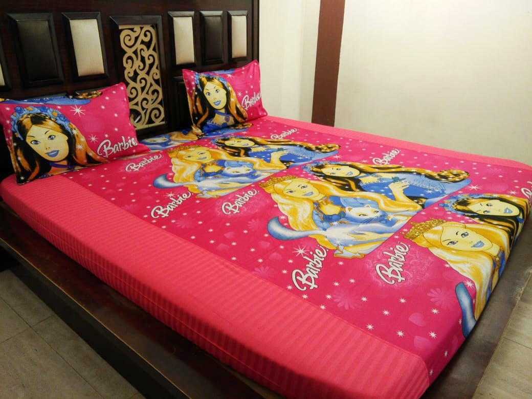 Kids Barbie Princess Fitted BedSheet