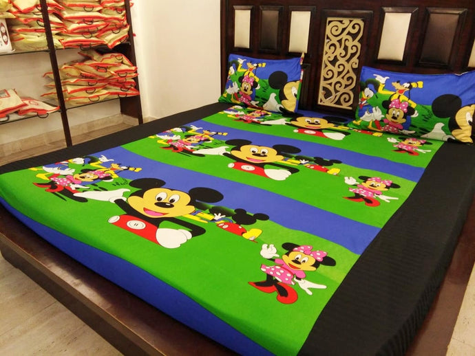 Kids Mickey Mouse Fitted BedSheet