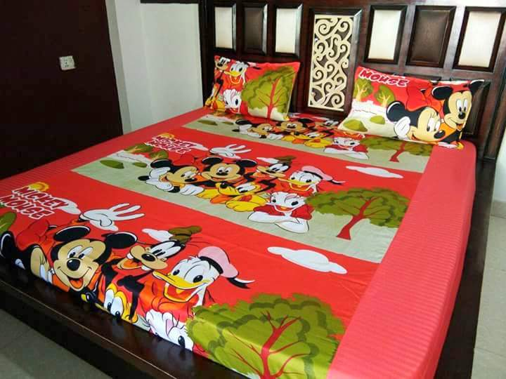 Kids Disney Characters Fitted BedSheet