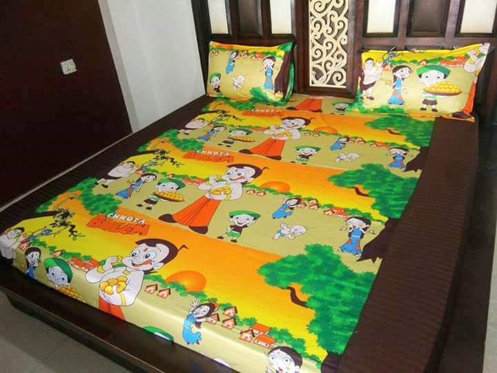 Kids Chota Bheem Fitted BedSheet