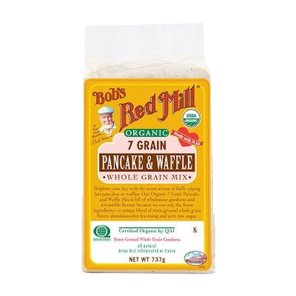 BOB'S RED MILL ORGANIC 7 GRAIN PANCAKE WAFFLE MIX 737g