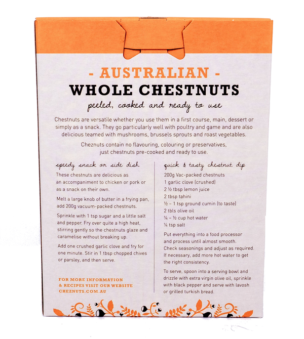 AUSTRALIAN WHOLE CHESTNUTS 200g