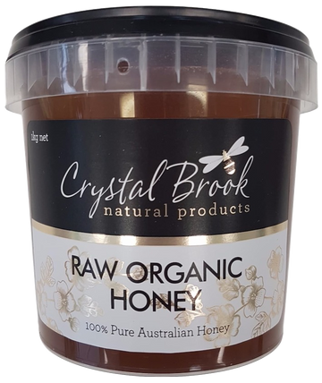 ORGANIC RAW CRYSTAL BROOK HONEY 1kg