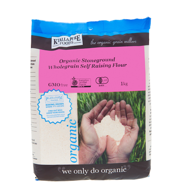 KIALLA ORGANIC STONEGROUND WHOLEGRAIN SELF-RAISING FLOUR 1kg
