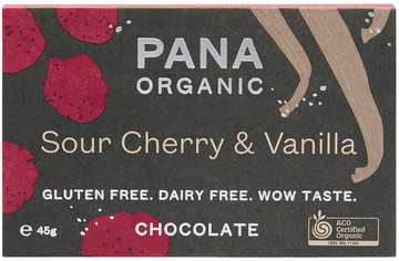 PANA SOUR CHERRY & VANILLA ORGANIC CHOCOLATE