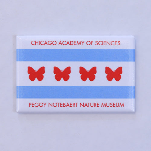 Nature Museum Butterfly Flag Magnet