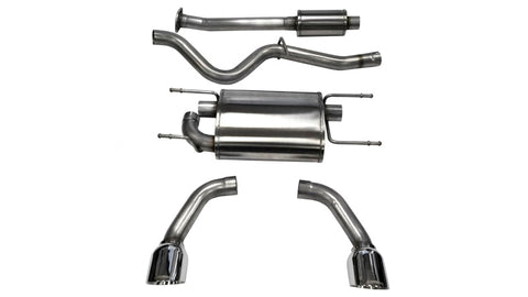 Corsa 12-14 Scion FRS / Subaru BRZ Polished Sport Cat-Back Exhaust
