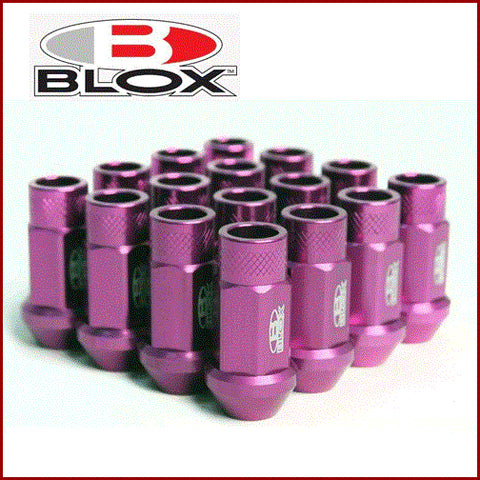 BLOX FORGED ALUMINUM LUG NUT: 12x1.25 (16PC/PURPLE)