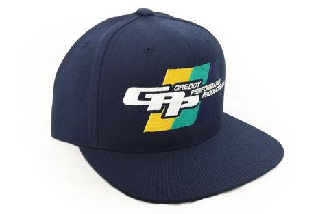 GREDDY SNAP-BACK CAP: GREDDY GPP (NAVY BLUE)